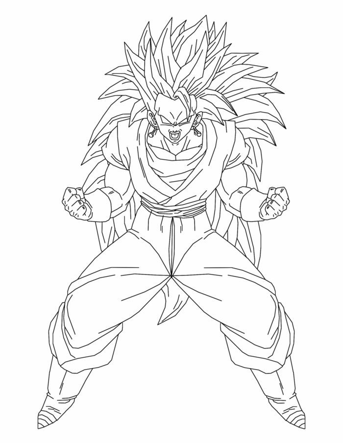 Dragon Ball Z Goku In Saiyan Armor Coloring Pages Super Coloring Pages Cartoon Coloring Pages Coloring Pages