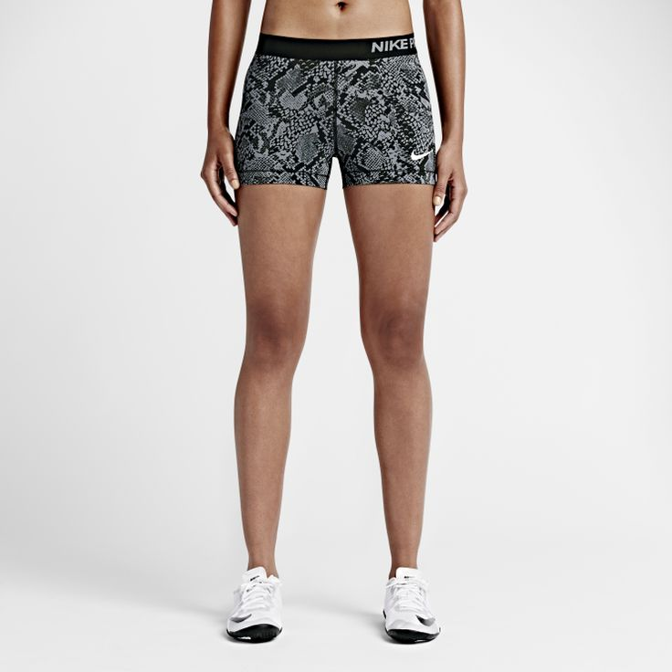 """Nike Pro 3"""" Vixen - SNUG-FITTING SUPPORT. MINIMAL LENGTH. The Nike Pro 3"""" VixenWomen's Training Shortsfeature a short inseam and snug-fitting Dri-FIT fabric for natural range of motion and a comfortable fit. Benefits  Dri-FIT fabric helps keep you dry and comfortable Flat seams move smoothly against your skin Fitted design lets you move freely and layer with ease Elastic waistband provides a smooth, flattering fit Hem-to-hem gusset for enhanced range of motion  Pro..."""