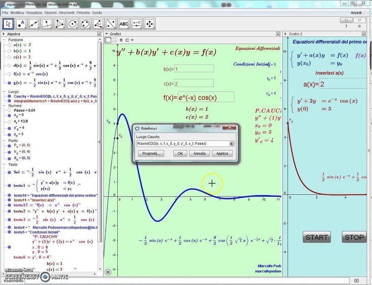 Equazioni differenziali del primo e del secondo ordine