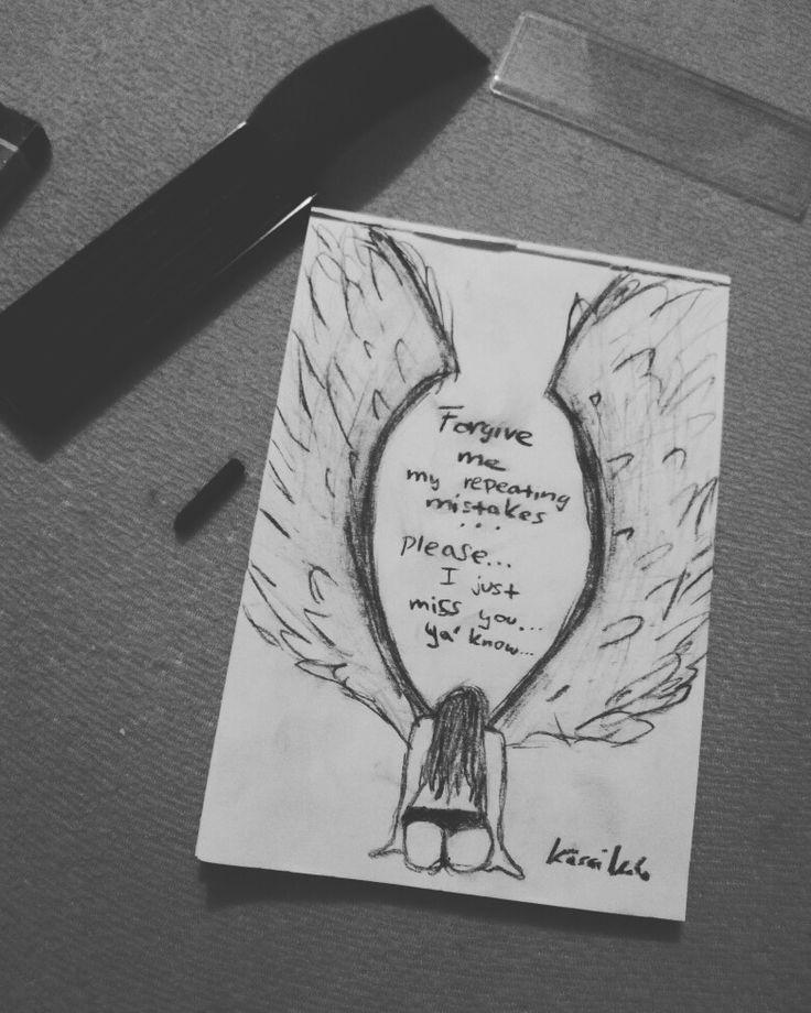 This feel when you're lost... Angel, feelings, from head, idea, girl, fall in love, draw, skatch, art