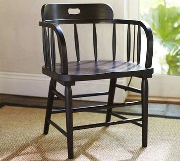 Captain's Armchair - Pottery Barn - traditional - dining chairs - Pottery Barn