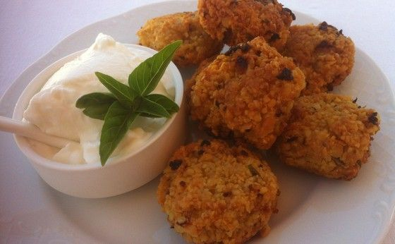 Chickpea Fritters (Revithokeftedes), posted from MyGreekDish.com iOS app