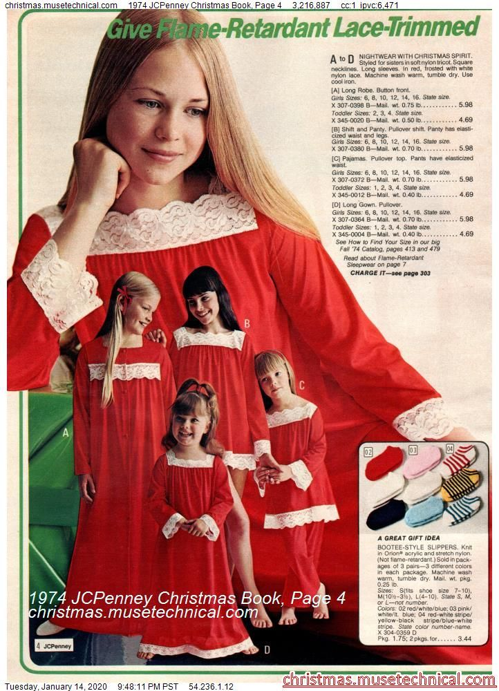 Jcpenney Christmas Illustration 2020 1974 JCPenney Christmas Book, Page 4   Christmas Catalogs