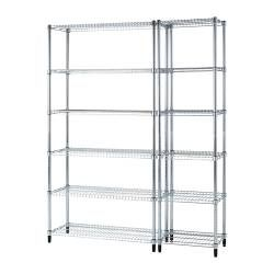 IKEA - OMAR, 2 section shelving unit, Easy to assemble – no tools required.Also stands steady on an uneven floor since the feet can be adjusted.
