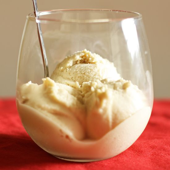 Dairy free Egg Nog Ice Cream!! I'm so glad I have an ice cream maker...
