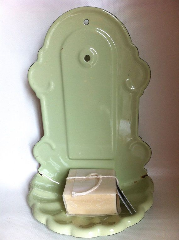 Enamel Soap Holder  French Enamelware by HillsideHouse on Etsy,