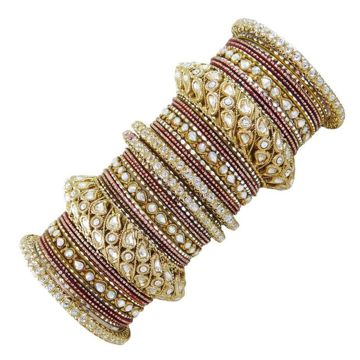 Maroon Bangle Jewellery Traditional Indian Churi Set Women Wedding Jewelry 2*6 #iba