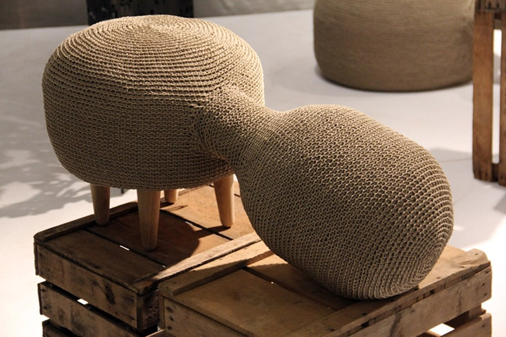 Morphing crochet furniture by Sampling