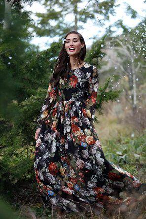 Winter Bouquet Maxi Dress