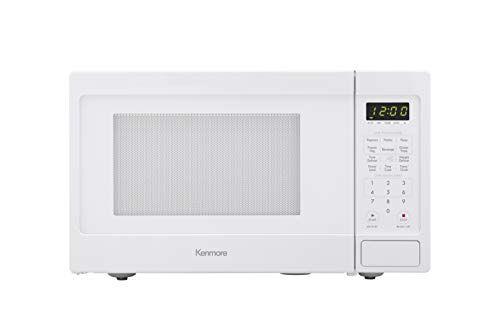 Kenmore Elite White 70912 Countertop Microwave 0 9 Cu Ft