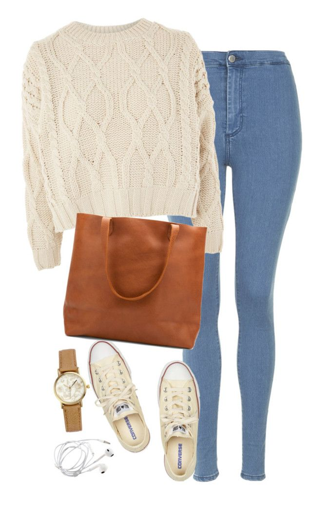 """""""Untitled #449"""" by ksenia1ksu ❤ liked on Polyvore featuring Topshop, Converse and H&M"""