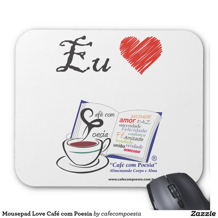 Mousepad Love Café com Poesia