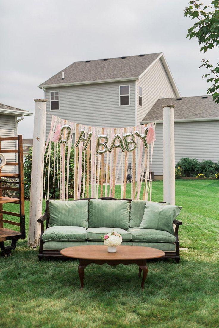 A Pretty Backyard BaBy-Q Baby Shower | The Little Umbrella