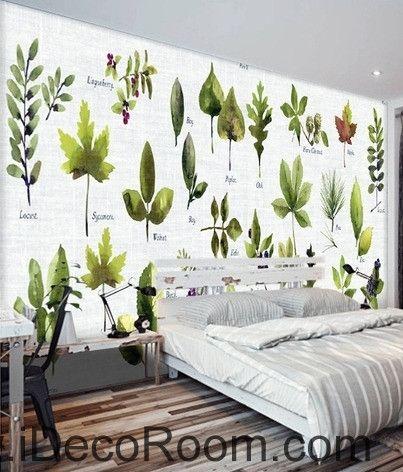 Beautiful Little Fresh Green Plant Pattern Tree Leaves Tree Oil Painting  Effect Wall Art Wall Decor
