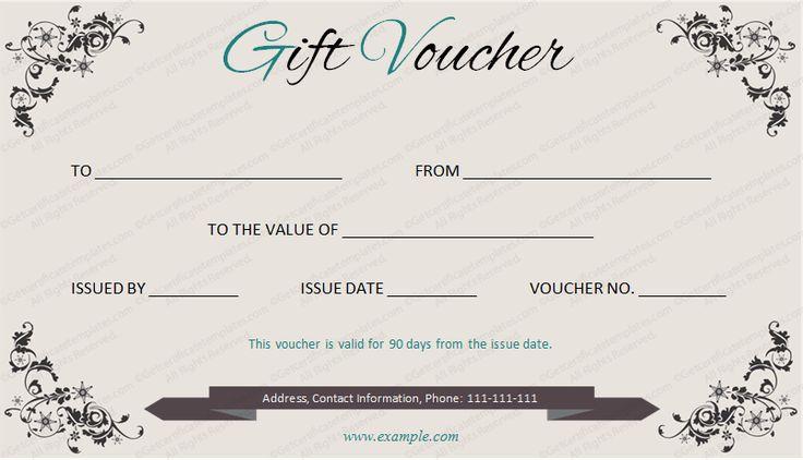 GiftVoucher #gifttemplate #giftcertificate Beautiful Printable - examples of gift vouchers