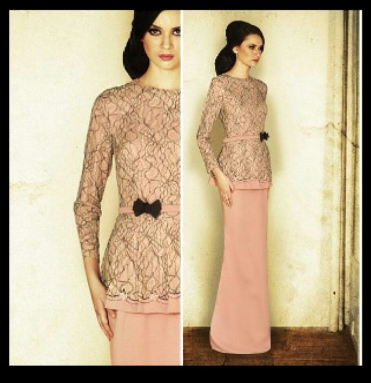 Jovian Mandagie's design. Malaysia's well known Fashion Designer. Loving it! Peplum Baju Kurung.