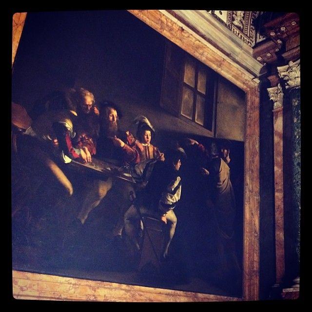 """Caravaggio's famous """"La Conversione di San Matteo"""" can be seen in this church."""