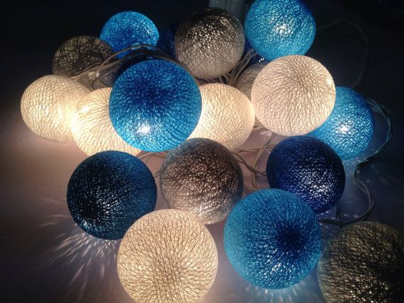 cotton ball string lights for home decor party decor. Black Bedroom Furniture Sets. Home Design Ideas