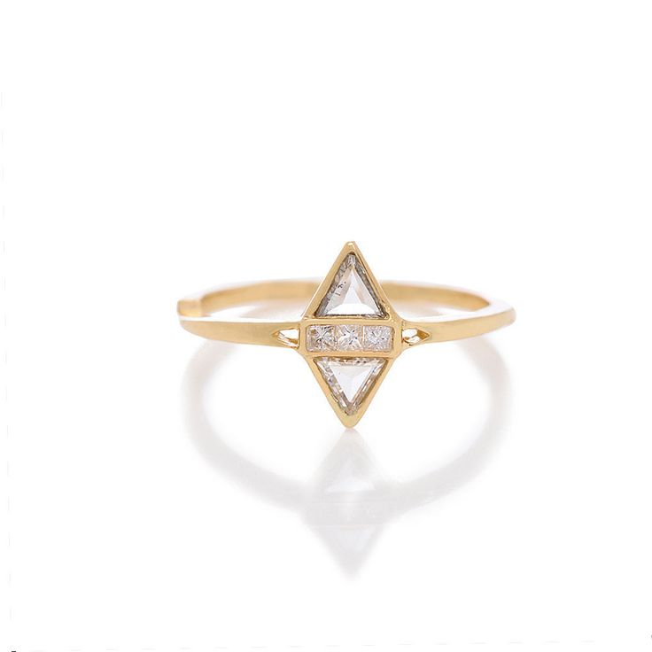 Unusual Engagement Rings: T Kahres Split Love Ring ($2,015)
