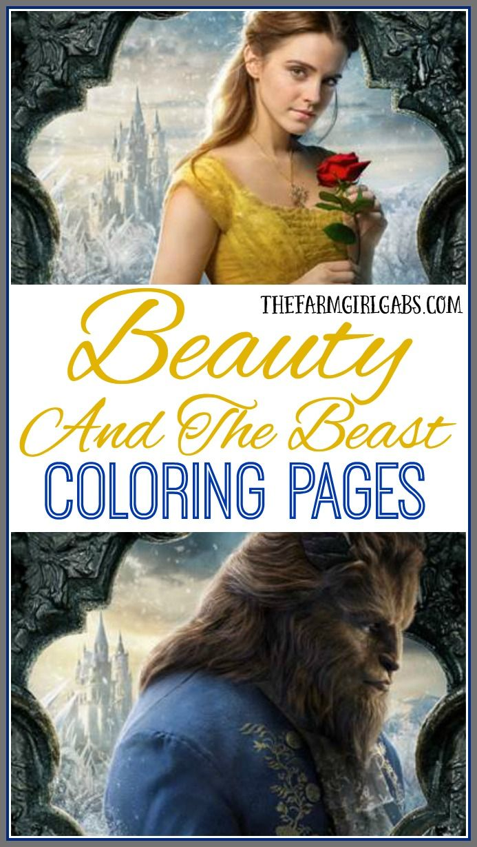 Have Some Disney Fun Today And Download These Free Beauty The Beast Coloring Sheets