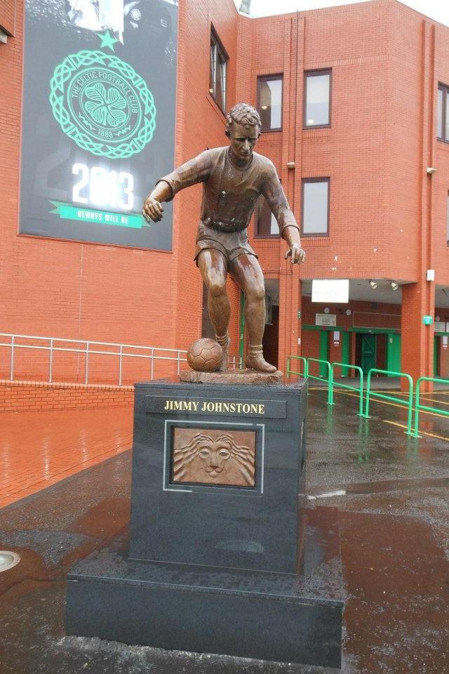 Jimmy Johnstone Statue Outside Celtic Park