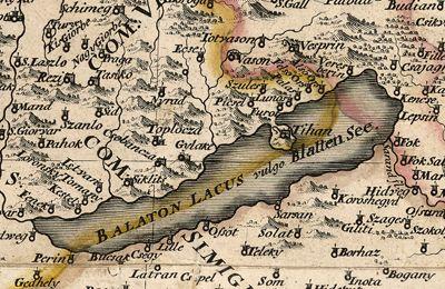 #Balaton #vintage #map from 1709. #Hungary #Europe