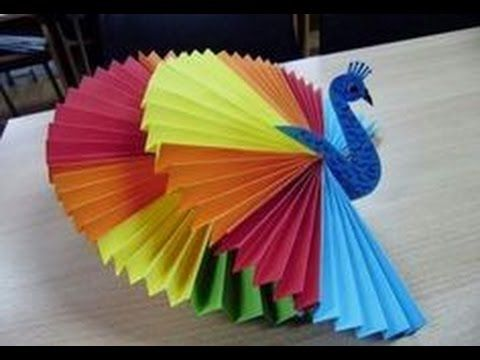 How to make 3d origami peacock |Activities for kids| Craft activities for kids - YouTube