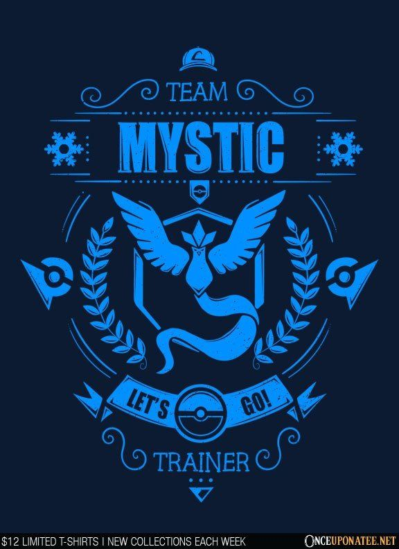 Team Mystic is available on t-shirts, hoodies, tank tops, and more until 7/18 at OnceUponaTee.net starting at $12! #Fashion #Apparel #Pokemon #PokemonGo