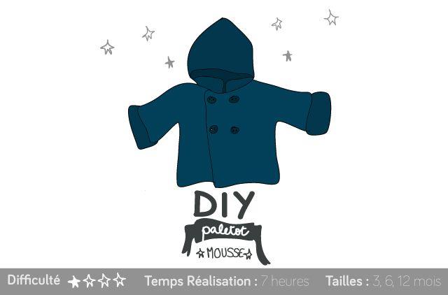 DIY pour petit mousse : Paletot ultra facile ! #tricot #knit