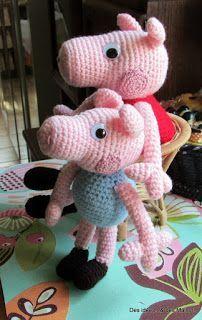 tuto gratuit de Peppa Pig  au crochet