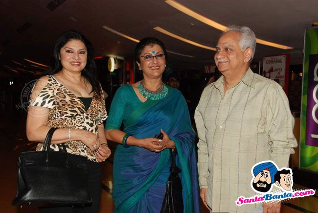 Aparna Sen with Kiran and Ramesh Sippy at the premiere of Japanese Wife