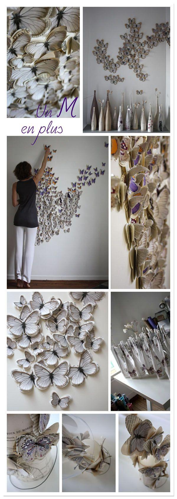 Marjorie Colas,butterfly,butterflies,papillon,papillons,mariposa,mariposas,paper,papier,papel