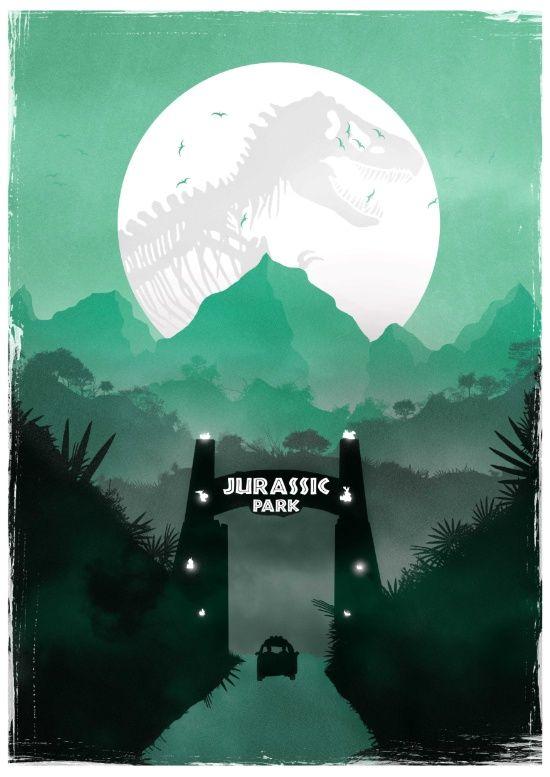 Jurassic Park Inspired Minimalist Print  Art Print