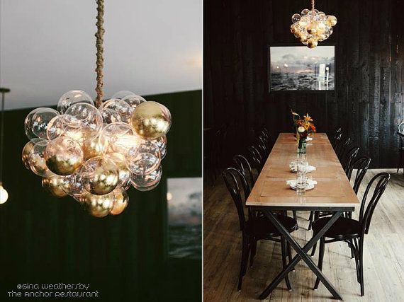 Custom Gilded Floating Bubble Chandelier by TheLightFactory,