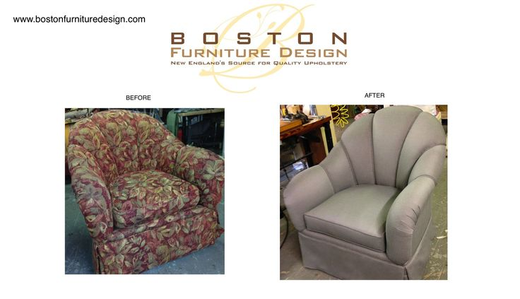 Channel Back Tub Chair Reupholstered by Boston Furniture Design. For more information, please visit us at www.bostonfurnituredesign.com #upholstery #reupholstery #chairs #design #bostonfurnituredesign