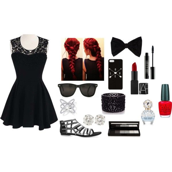 A black summer day outfit