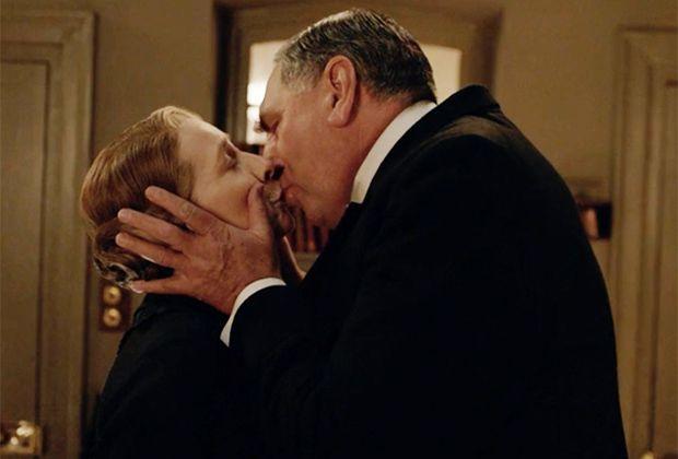 Season 6, episode 1. Mr. Carson and Mrs. Hughes.