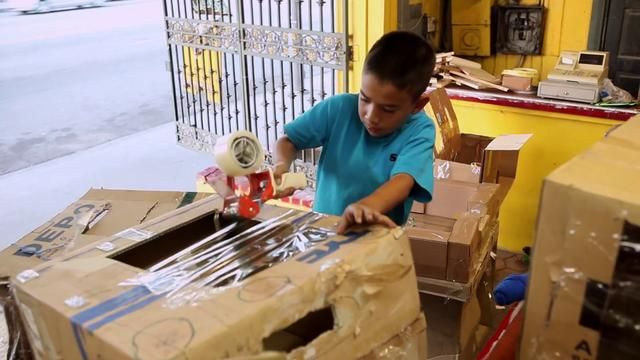 A 9 year old boy - who built an elaborate cardboard arcade inside his dad's used auto part store - is about to have the best day of his life.