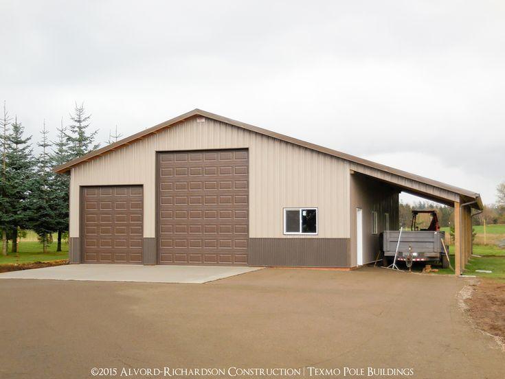 44 best barn garage images on pinterest pole barn garage for Garage lean to plans