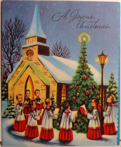 Christmas Carolers Singers Vintage Decorations By: Old Fashioned Christmas: Cards