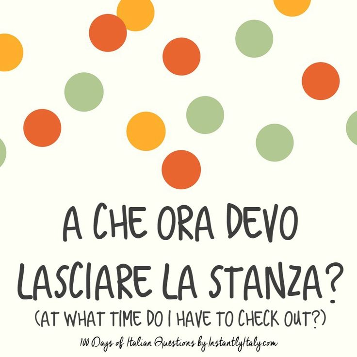 43/100 - 100 Days of Italian Questions on Instagram