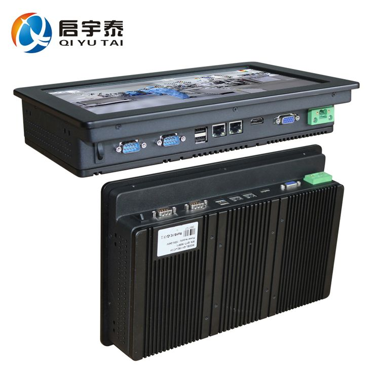 Промышленный компьютер с ПРОЦЕССОРОМ Интер N2800 1.86 ГГц сенсорный экран 12 дюймов HDMI 2 * RS232 двойной РАЗЪЕМ RJ-45 Разрешение 1280x800 2 ГБ DDR3