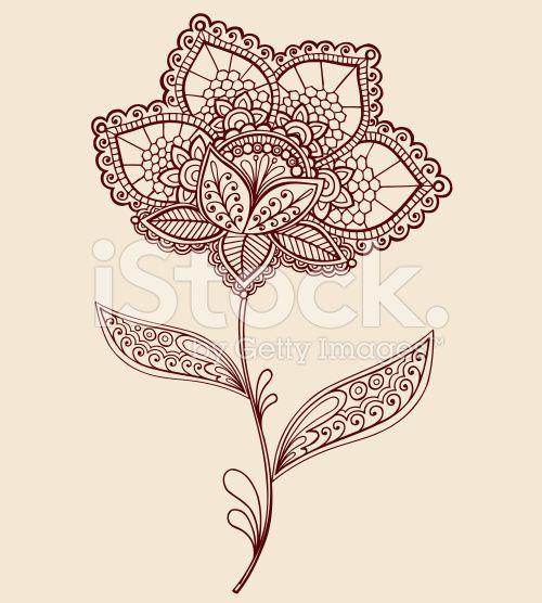Henna Tattoo, Lace - Textile, Paisley Pattern, Flower, Single Flower