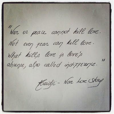 Haidji: Indifference - Book Quote - War Love Story - Harab...
