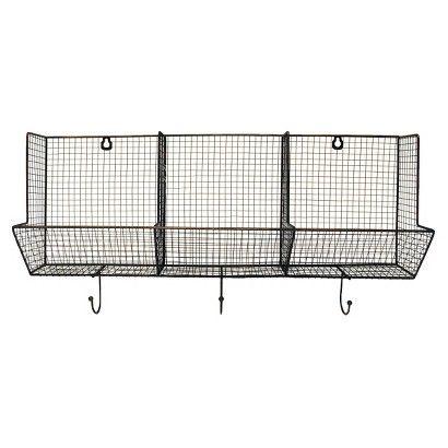 3 Piece Wire Basket with Hooks 12x24