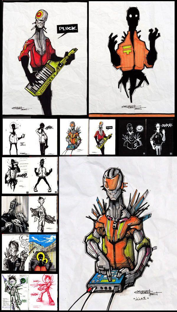 Sketchbook 1 by Artem Solop, via Behance