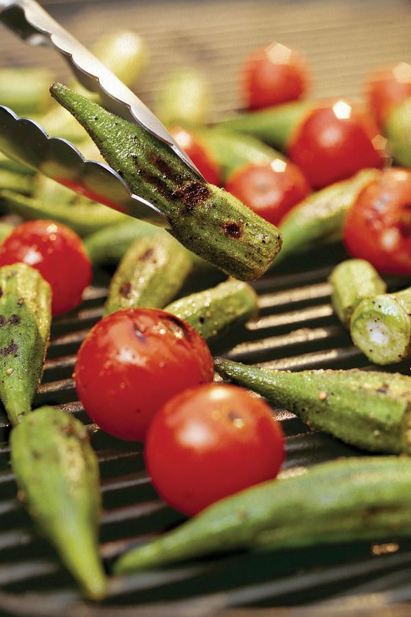 While you have the grill fired up for burgers and chicken, throw on some veggies too. Sprinkle the okra and tomatoes with fresh basil to enhance their flavor.  Recipe: Grilled Okra and Tomatoes
