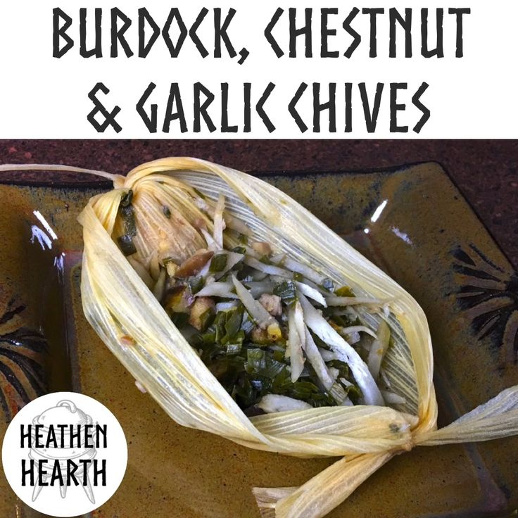 Burdock, Chestnut, and Garlic Chives in an Instant Pot  For the recipe see https://youtu.be/p6ImA3sZwUQ