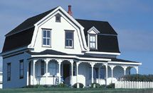 Dutch Colonial style homes - I love them!!