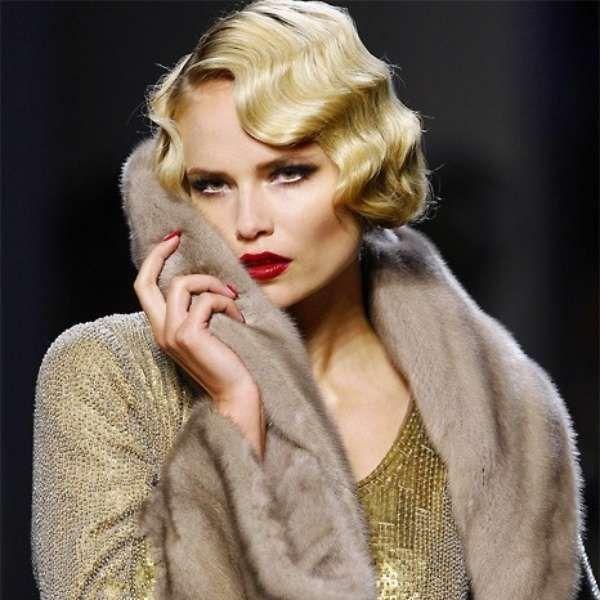 Es Mädchen Style Vintage lockige Frisuren